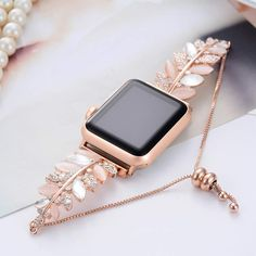 Bling Band Jewelry Replacement Compatible with Apple Watch iWatch Rhinestone Strap Wrist Bracelet Wristband Crystal Cuff Olive Series 3 2 1 Sport Nike+ Edition Fashion Feminine Women Rose Gold Fancy Jewellery, Stylish Jewelry, Cute Jewelry, Fashion Jewelry, Women Jewelry, Fancy Watches, Elegant Watches, Beautiful Watches, Stylish Watches For Girls