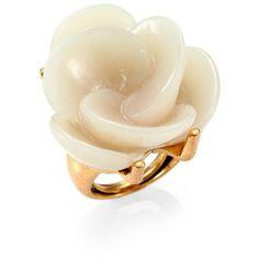 Oscar de la Renta Swirl Flower Cocktail Ring