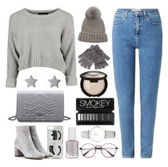 """""""Sweater """" by mariah-66 ❤ liked on Polyvore featuring Wrangler, Eugenia Kim, Steve Madden, Essie, CLUSE, Chiara Ferragni, Gianvito Rossi, Gucci, nice and Sweater"""