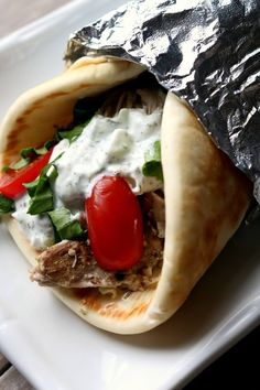 Instant Pot Chicken Gyros - 365 Days of Slow Cooking and Pressure Cooking