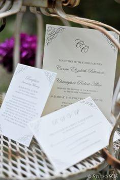 Monogram Wedding Invitation Set