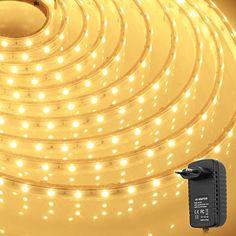 300 LEDs Strip Licht Streifen Wasserdicht Band Leiste inkl. Netzteil (SMD 3528, 5M, Warmweiß) Koopower http://www.amazon.de/dp/B00OQ72RDQ/ref=cm_sw_r_pi_dp_QcgLwb1Q7DXDK