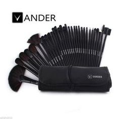 32pcs Professional Soft Cosmetic Eyebrow Shadow Makeup Brush Set Kit Pouch Case