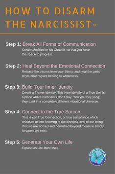 Here are the 5 steps to get your life back after narcissist abuse and in the process disarming a narcissist! Click on the images to find out more! #narcissism #narcissist #toxicpeople#domesticabuse #healingfromabuse #abuse #recovery