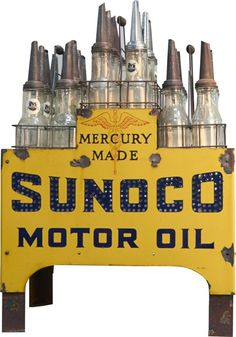 Sunoco Motor Oil light-up store display