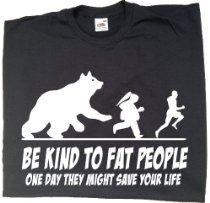 Be Kind To Fat People funny t-shirts for men, mens funny gifts, offensive t-shirts £7.99