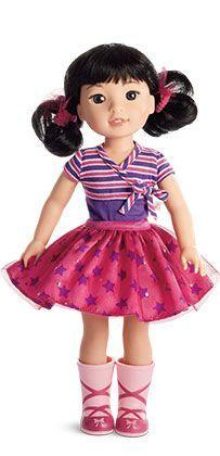 Wellie Wisher Emerson American Girl doll Welliewishers NEW plus merry Socks!