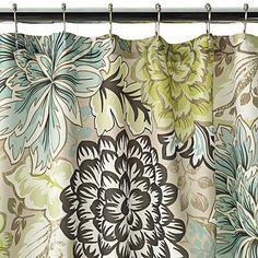 Home Classics Reiko Floral Fabric Shower Curtain from Kohls. My bathroom curtain. Techno, Curtains Kohls, Cute Shower Curtains, Bathroom Paint Colors, Paint Colours, Wall Colors, House Colors, Bathroom Inspiration, Bathroom Ideas
