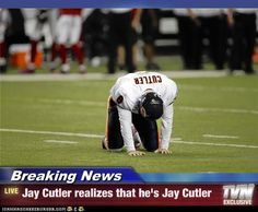 BREAKING NEWS: Jay Cutler realizes that he's Jay Cutler >>The team here at Weidert is still amped up from last night's big win over the Bears! #gopack