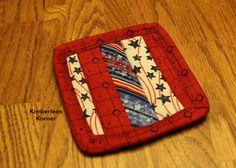 Patriotic Coasters Knitting Books, Free Knitting, Knitting Projects, Knitting Patterns, Sewing Projects, Blanket Yarn, God Bless America, Slow Fashion, Coasters