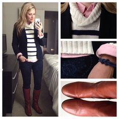 Causal outfit pulled together with a blazer | preppy style fashion Pinterest // @mokbrimley