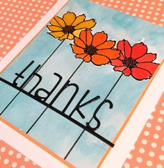 Simon Says Stamp Stamptember card using the Oh happy day stamp set