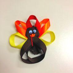 DIY: Thanksgiving hair bows!