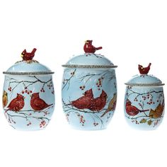 Celebrating Home New Birdhouse Canister Set Only 45 00 For