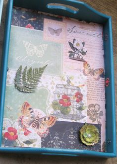 A guide on how to make a vintage wooden serving tray with decoupage scrapbook paper. Also includes guides on how to refinish wood and metal antiques for beginners.