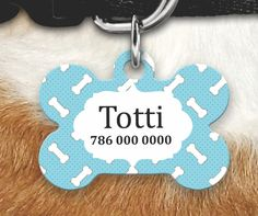 Personalized Dog Tag - Dog ID Tag - Personalized Bone Dog Tag - Custom Pet ID Tag - Dog tags For Dogs - Personalized Pet Gifts-Pet gifts by MysticCustomDesignCo on Etsy