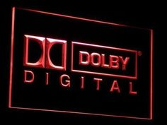 Dolby Digital Led Neon Sign Home Theater Living Room Decor Housewarming Gift