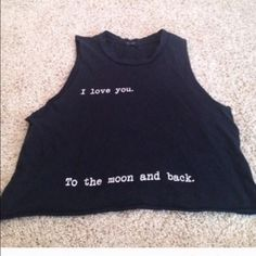 """Brandy Melville Moon Tank Extremely rare! """"I love you to the moon and back"""" Open to trades for Brandy only and offers! Brandy Melville Tops Muscle Tees"""