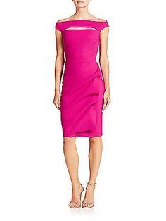 La Petite Robe di Chiara Boni Off-The-Shoulder Stretch Jersey Dress