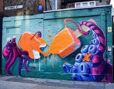 Woskerski in Shoreditch, London, 2020 Street Art London, Cosmos, Horror, Pictures, Painting, Inspiration, Photos, Biblical Inspiration, Painting Art