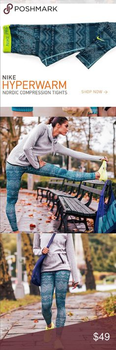 Nike pro leggings Nike hyper warm compression tights with thermal insulation. Designed to keep you warm in cold conditions Nike Pants Capris