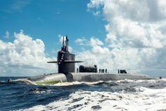 FERNANDINA BEACH, Fla. -- The Ohio-class guided-missile submarine USS Georgia returns to Naval Submarine Base Kings Bay July 15, 2012 following a one-year deployment. JAMES KIMBER/U.S. NAVY