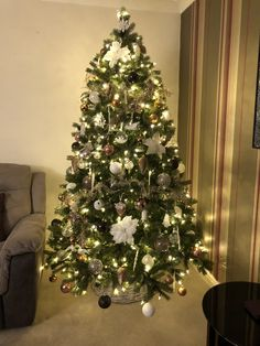 My Christmas Tree 2017   Copper  Silver White Crystal