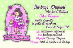 CLIENTE: Burbuqe Zhupani - CAKE DESIGNER LAVORO: Bigliettino da Visita