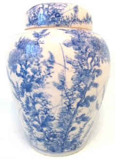 Stunning Antique Victorian Japanese Blue and by AToasttothePast