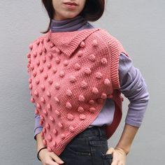 PONCHO POIS — Giuliano&Giusy Marelli Baby Knitting, Polka Dot Top, Scarves, Turtle Neck, Sweaters, Hobby, Shawls, Models, Fashion