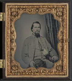 [Unidentified soldier of Laurel Brigade Virginia Cavalry Regiment with tobacco pouch] (LOC) : sixth-plate ambrotype, hand-colored ; 9.4 x 8.3 cm (case)   Flickr - Photo Sharing!