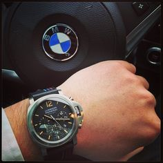 What do you think of this Officine Panerai Luminor Daylight on a custom BMW strap?