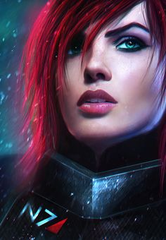 Commander Shepard...my is always either red headed or raven