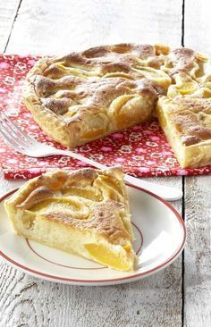 Frangipanetaart met perzik No Cook Desserts, Great Desserts, Dessert Recipes, Sweet Pie, Sweet Tarts, Bread Cake, Pie Cake, Recipe Details, Biscuits
