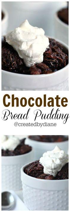 chocolate bread pudding recipe from @createdbydiane