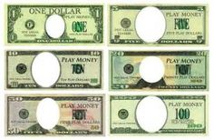 Play Money Template Insert