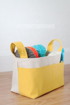 {lbg studio}: sewing for me   divided basket pattern by noodlehead