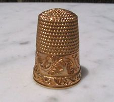Antique Genuine 14k Yellow Solid Gold Vintage Thimble Hallmarked 4 Grams