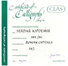 Serdar Kipdemir 39 39 Certificate Of Calligraphy 39 39 Angled