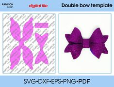 140 Double bow Template SVG Cut File hair bow template for cricut Diy Hair Bows, Diy Bow, Rapunzel, Types Of Bows, Bow Template, Bow Pattern, Diy Hair Accessories, Templates Printable Free, How To Make Bows