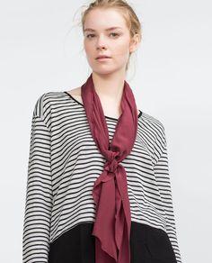 Image 2 of MIXED FABRIC T-SHIRT from Zara