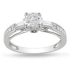 @Overstock - Round-cut diamond and pink sapphire engagement ring14-karat white gold jewelry Click here for ring sizing guidehttp://www.overstock.com/Jewelry-Watches/Miadora-14k-Gold-1ct-TDW-Diamond-and-Sapphire-Engagement-Ring-G-H-I2-I3/5528622/product.html?CID=214117 CAD              2008.57