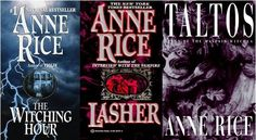 The Mayfair Witches-Anne Rice Who knew Anne Rice wrote stories far better without vampires.. and the vampire ones were good.  Welcome to a world of what appears normal but never quite is. Tales of intelligence, love, and blood.