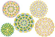 "Tutorial - Peyote Stitch Mandala - Fire Mountain Gems and Beads (love love LOVE this site, they have just about every kind of jewelry making supplies you could ever need, and a huge ""Gallery of Designs"" for inspiration, and a few great tutorials too! Jewelry Making Tutorials, Jewelry Making Beads, Beading Tutorials, Seed Bead Projects, Weaving Projects, Peyote Patterns, Beading Patterns, Peyote Beading, Beadwork"