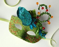MASK Sunset in Spring  masquerade mask Mardi Gras by KMCQdesigns