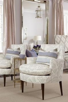 Separate conversation areas in a large living room -  sarah richardson sarah house 4