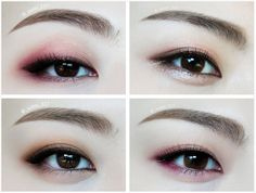 korean makeup. eye shadow                                                                                                                                                                                 Más