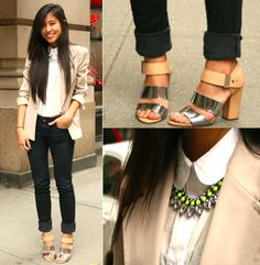 I love everything about her outfit! Especially her shoes<3 Le debut (by Kristen  Lam) http://lookbook.nu/look/3393587-Le-debut