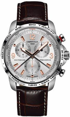 Certina Watch DS Podium Big Size #add-content #basel-16 #bezel-fixed #bracelet-strap-leather #brand-certina #case-depth-13-25mm #case-material-steel #case-width-44mm #chronograph-yes #date-yes #delivery-timescale-1-2-weeks #dial-colour-silver #gender-mens