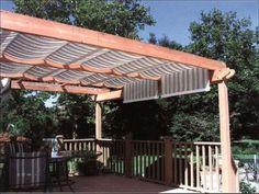 Deck Pergola With Fibreglass Roofing
